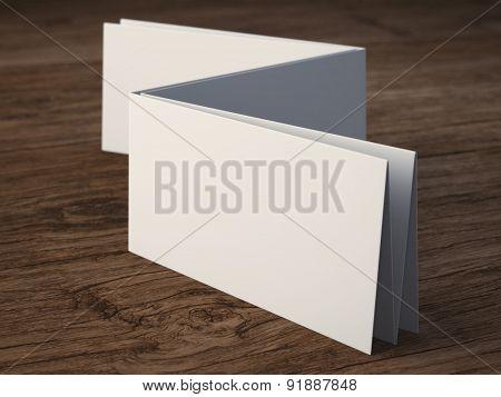 blank folded paper leaflet