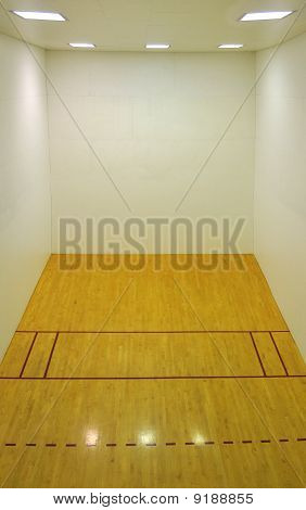 Empty Basketball Court Interior