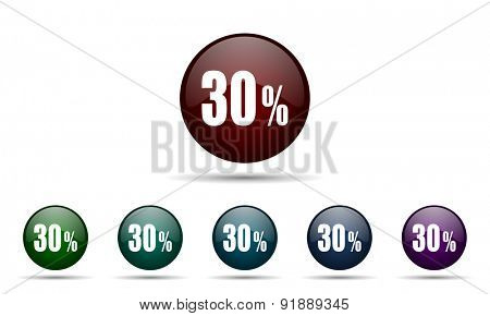 30 percent icon sale sign