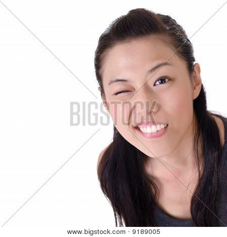 Beautiful Woman Wink