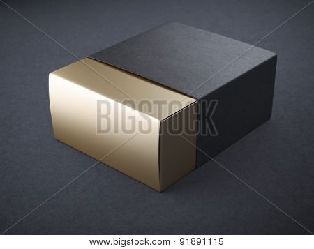 Black and gold box