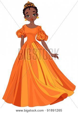 Illustration of beautiful African princess