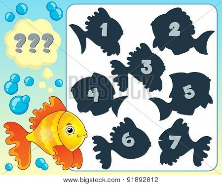 Fish riddle theme image 4 - eps10 vector illustration.