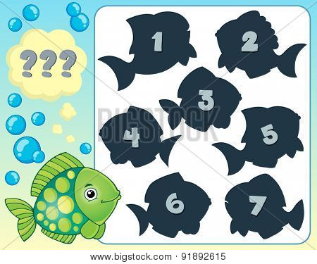 Fish riddle theme image 2 - eps10 vector illustration.