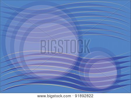 Background of Blue Waves, Vector