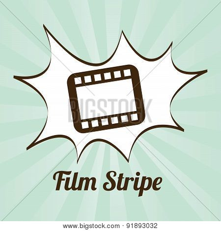Film design over green background vector illustration