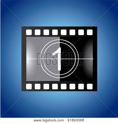 Film design over blue background vector illustration