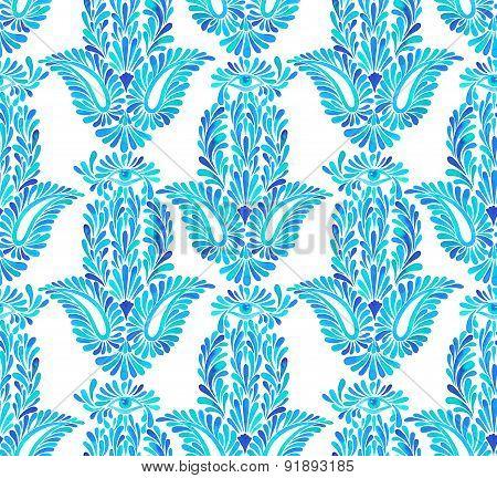 Seamless Hamsa Pattern