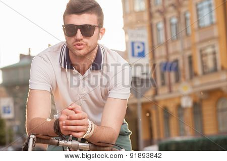 Portrait Of Stylish Biker