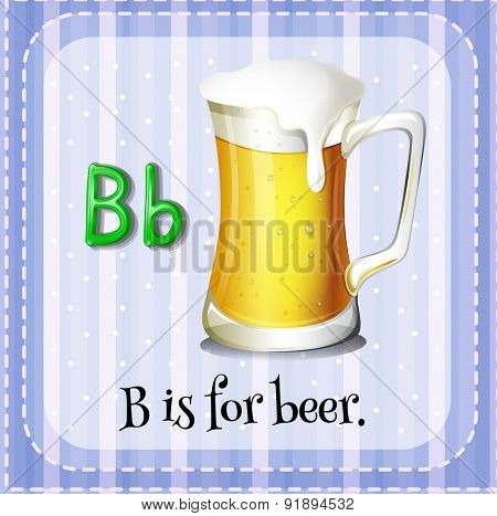 Flashcard letter B is for beer