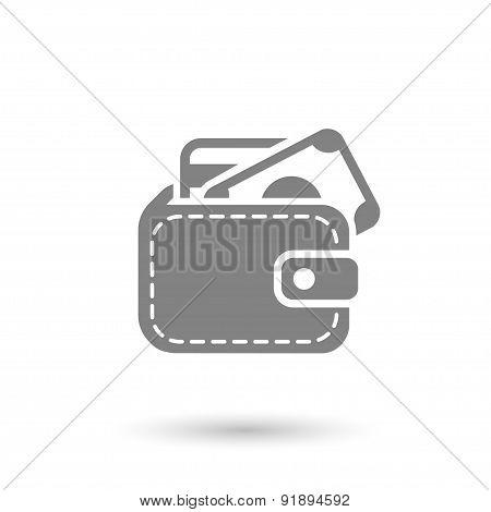 Flat Pocket Wallet Icon Background