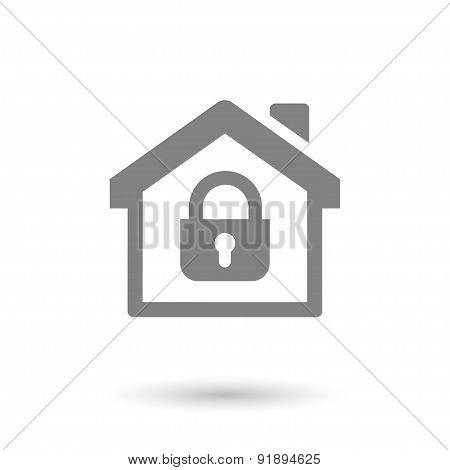 Flat Safe House Icon