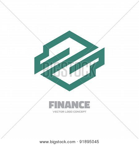 Finance - vector logo concept illustration.