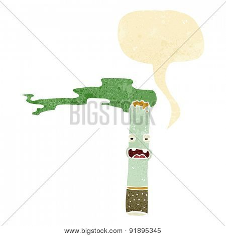 cartoon marijuana character with speech bubble