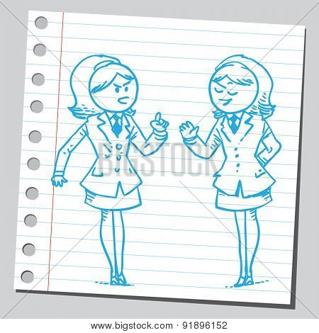 Businesswomen arguing