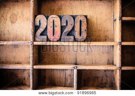 2020 Concept Wooden Letterpress Theme