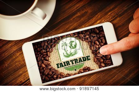 Fair Trade against hand using smartphone