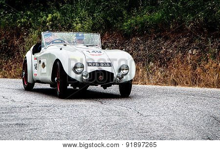 old car HRG Aerodynamic W77  1946  mille miglia 2015