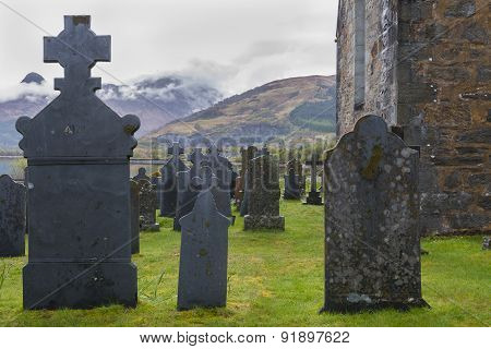 Graveyard Ballachulish With Chapel