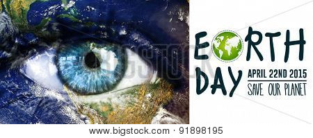 Earth Day Graphic against grey