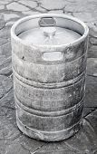 pic of keg  - Used aluminum keg small barrel commonly used to store transport and serve beer - JPG