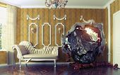 picture of meteorite  - Meteorite enters the room - JPG
