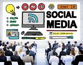 image of socialism  - Social Media Social Networking Technology Connection Concept - JPG