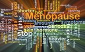 stock photo of shivering  - Background concept wordcloud illustration of menopause glowing light - JPG