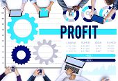 stock photo of accumulative  - Profit Benefit Accumulation Earning Accounting Concept - JPG