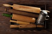 picture of flour sifter  - Vintage  Baking utensils collection  - JPG