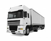 pic of truck  - Cargo Delivery Truck isolated on white background - JPG