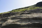 picture of dragon head  - Multistory layered rough and strange sedimentary rocks in famous tourist site Yongmeori Coast - JPG