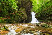 foto of waterfalls  - Beautiful small waterfall In Balkan Mountains Bulgaria - JPG