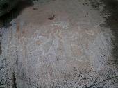 stock photo of rock carving  - Petroglyphs  - JPG