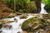 picture of waterfalls  - Beautiful small waterfall In Balkan Mountains Bulgaria - JPG