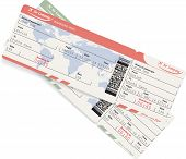 picture of boarding pass  - Pattern of airline boarding pass ticket with QR2 code - JPG