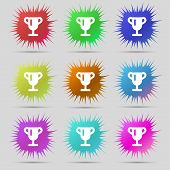stock photo of winner  - Winner cup Awarding of winners Trophy icon sign - JPG