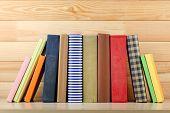 pic of book-shelf  - Books on shelf - JPG