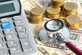 image of status  - Checking money status in financial concept and healthcare concept - JPG