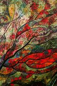 picture of mood  - abstract spring paint mood garden drawing forest - JPG
