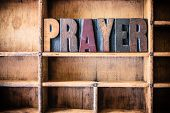 Prayer Concept Wooden Letterpress Theme poster