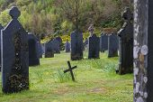 picture of graveyard  - BALLACHULISH - JPG