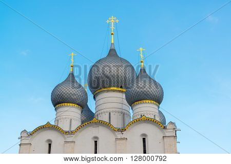 Rostov Veliky, Russia-March 30.2016.  Assumption Cathedral in the Kremlin