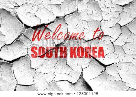 Grunge cracked Welcome to south korea