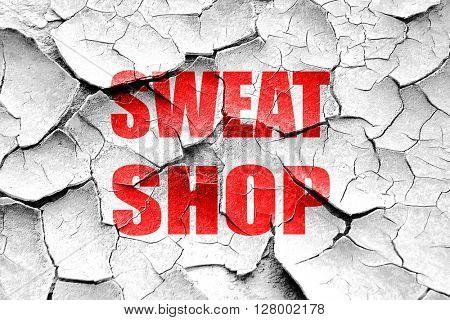 Grunge cracked Sweat shop background