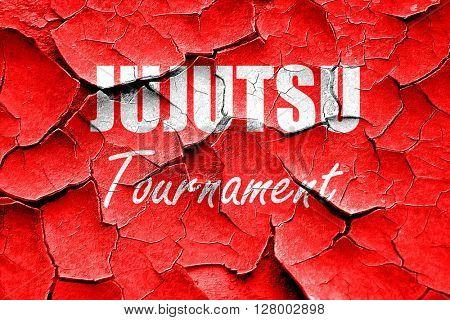 Grunge cracked jujutsu sign background