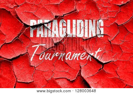 Grunge cracked paragliding sign background