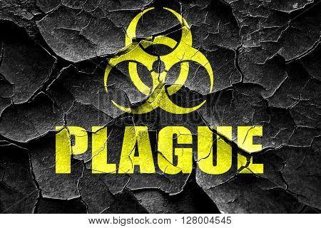 Grunge cracked Plague concept background
