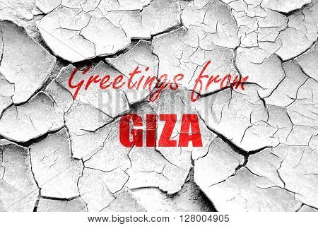 Grunge cracked Greetings from giza