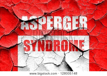Grunge cracked Asperger syndrome background